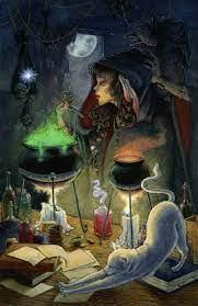 bruja-wicca-cocina-pócima-brebajes-sortilegios